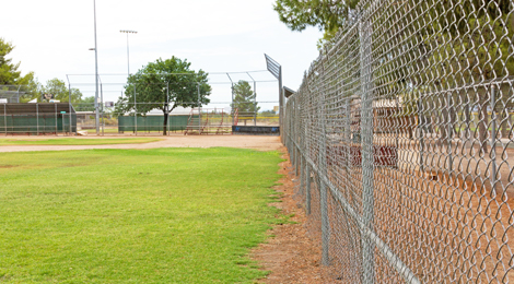 chain link fence baseball field